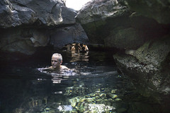 Bathing in a lava tube, Queen's Bath, on the Big Island, Hawaii, USA (jackie weisberg) Tags: hawaii bigisland paradise vacation tourism adventure lush green islands bathing lavatube pool usa nature volcanic queensbath jackieweisberg