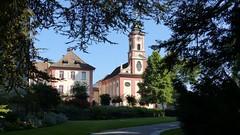 Schloss und Kirche auf der Insel Mainau