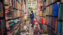 (ChanXe) Tags:       taiwan taichung book reading old store iphone iphone5s 5s perspective