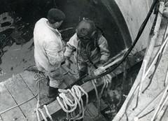 Inspection d'ouvrage Le Bouil-de-Chambon (Groupe SAUR) Tags: eaupotable charentemaritime 17 scaphandre scaphandrier collaborateur bassin bouildechambon france