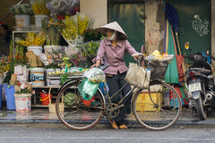 Hanoi, Vietnam (DitchTheMap) Tags: bike building flowers food market seasia vietnam ancient antique asia asian bamboo bicycle business city culture flickr fresh fruits hanoi hanoivietnam hat heritage life lifestyle morning old oldquarter personal poor quarter retro sell slow speed street things tradition traditional travel tropical vendor vendors vietnamese vintage walking woman yellow