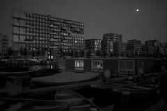 Amsterdam. (Michael Degenhart) Tags: amsterdam night dusk twilight city cityscapes mokum urban blackandwhite monochrome
