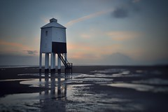 The Little Lighthouse (Nige H (Thanks for 7m views)) Tags: nature landscape beach lighthouse stilts sea sky cloud stormyweather somerset burnhamonsea england bristolchannel