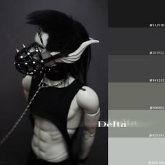 shade_delta (Muffin_elfa) Tags: bjd black cyberpunk cyborg grey skin muzzle impldoll filraen