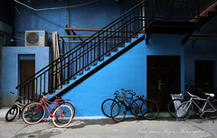 Shanghai le vélo rouge. (jmboyer) Tags: chi1813 ©jmboyer getty images imagesgoogle photoyahoo photogéo lonely gettyimages picture travel voyage géo yahoo nationalgeographie shanghai lonelyplanet canonfrance canon