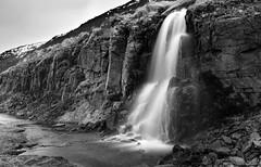 Icelandic waterworlds (lunaryuna) Tags: iceland westiceland westfjords mounthestur rivulets waterfalls wetwall rockface rockformations beauty spring season seasonalwonders blackwhite bw monochrome nature lunaryuna le longexposure water