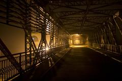 Horror night trail (monty1511) Tags: night nightscene horror scary fear nightlight light bridge hydroelectric power