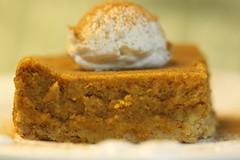 A Friendsgiving Dessert - Pumpkin Gooey Butter Cake (Baking is my Zen) Tags: bakingismyzen pumpkin libbyspumpkin pumpkingooeybuttercake thanksgivingdessert happythanksgiving carmenortiz canonrebelt1i dessert macrodessertphotography