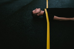 (Adam Bird Photography) Tags: adambirdphotography adambird lines yellow road markings surreal conceptual fineart portrait lowkey rain selfportrait self 365 explore
