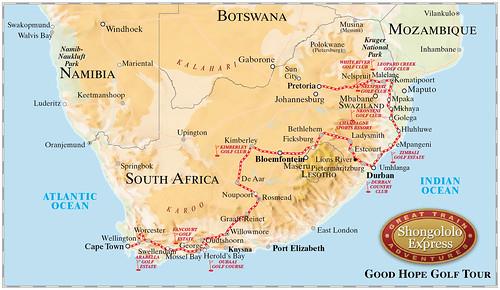 Shongololo Express Good Hope Golf Map