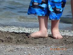 Chubby, Sandy, lovelyness (baileychamberlain) Tags: feet boy lake outside outdoors shark sand chubby