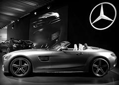 Mercedes Benz - Los Angeles Car Show (FlacoAponte) Tags: mercedes benz los angeles car show bw black white monochrome