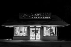 Mary's fabulous Chicken and Fish (Paul Napo) Tags: usa us night america ann arbor michigna chicken fish food fast