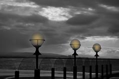 Evening Lights (Phil's Hat) Tags: berrow burnham sea lights eevening