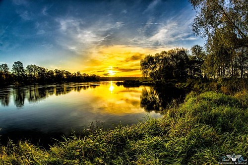 #odra #river near #nowasol 🌅 #sun #sunrise #photooftheday #amazing #colorful