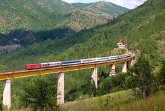 "IC 431 ""Tara"", on Ribnica 1 bridge (Mladja_IC431) Tags: zlatibor ribnica serbia railway beogradbar bridge train ic431 nature"