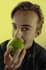 fruitography (therecxrd) Tags: portrait portraits fruit boy studio lighting fun