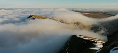 Cloud inversion seen from the summit of Pen y Fan, Brecon Beacons (Mumbles Head) Tags: wales mountains breconbeacons penyfan snow winter cloudinversion