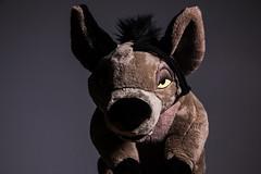 027-Shenzis Bad Fur Day (Univaded Fox) Tags: shenzi hyena the lion king plush disney store photography experiment dramatic lighting filters photoshop univaded