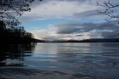 Loch Lomond #3 (Claire Stones) Tags: loch november scotland nikon7100 water westcoast nikond7100 clouds lochlomond bluesky