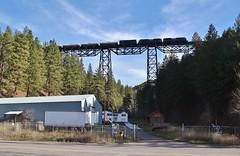 Overhead at Evaro - Nagos, MT (MinnKota Railfan) Tags: rail railroad engine loco train marent gulch evaro trestle bridge viadact nagos mro missoula gas lical mrl montana link