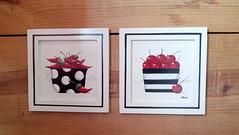 quadros cozinha (Imer atelie) Tags: pimentas cerejas quadros mdf pintura feitoamão pretobranco vermelho cozinha