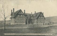 Lewis Hall at Lewiston State Normal School, 1912 - Lewiston, Idaho (Shook Photos) Tags: postcard postcards dorm dormitory lewistonstatenormalschool normalschool school lewistonidaho lewiston idaho nezpercecounty