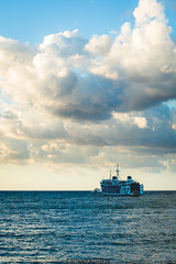 Ferry (Nicola Pezzoli) Tags: favignana sicilia sicily island egadi summer sea water colors nature canon tourism ferry clouds sunset waves shadow