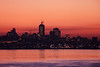 Stunning Sunset (caribb) Tags: canada quebec quebeccity canadianhistory buildings urban city 2016 downtown centreville street streets centrum outdoors skyline sunset dusk colours cityscape river stlawrenceriver fleuve ville skyscrapers officetowers outdoor nightscape orangesky water island liledorleans