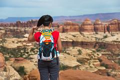 Canyonlands (joshbousel) Tags: kristin canyonlands canyonlandsnationalpark cheslerpark cheslerparkloop cheslerparktrail kris needlesdistrict northamerica people travel unitedstates unitedstatesofamerica usa ut utah nationalpark