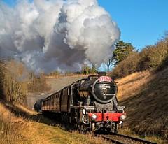 8274 at Barnston (Nigel B2010) Tags: 8f 280 gcrn railway barnston rails santa special canon 70d 18135 tracks express loco