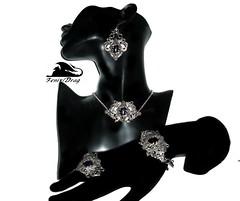 "Earrings, choker (necklace), bracelet and ring ""Winter dream"" with aventurine in Vintage, Steampunk, Victorian styles http://www.livemaster.com/fenixdrag http://fdrag.ru (fenixdrag) Tags: earrings earringssteampunk earringsfiligree earringshandmade creative choker creativeearrings womenchoker necklace baroque bracelet steampunkjewelry steampunk steampunkstyle steampunkfashion steampunkjewellery gothic gothicstyle gothicjewellery goth gothicjewelry victorianjewelry vintagejewelry vintage victorianstyle vintagependant handmade handmadejewelry handmadejewellery fantasyjewelry fashionjewelry filigreebracelet"