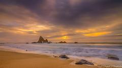 Martin's Sunset! (deepaksviewfinder) Tags: ifttt 500px martins beach half moon bay pch 1 pacific coast highway hole wall sunset ocean water waves long exposure