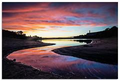 Low water at Leeming (.Wadders) Tags: leeming leemingreservoir yorkshire d600 ngc nikonfxshowcase nikkor1635mmf4 sunset water reflection reservoir bradford