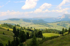 Dolomites in summer (morganchele) Tags: italy clouds view meadows dolomites mountainmeadows italiandolomites