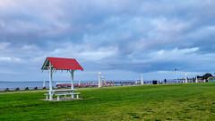 Geelong Waterfront (noldski2) Tags: sky beach lens waterfront australia olympus vic kit geelong 1442 em5