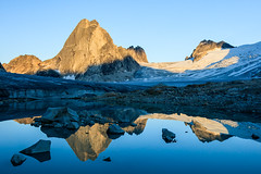 Rockies at Sunset (Loren Mooney) Tags: wild summer lake canada mountains nature wet water canon landscape rockies bc natural britishcolumbia alpine wilderness purcell cmh canadianrockies bugaboos purcellmountains