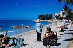 Moana Beachfront Waikiki 1955 (Kamaaina56) Tags: beach hawaii waikiki slide 1950s