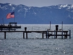 flag / piers, Carnelian Bay, Lake Tahoe, May 7, 2011 (/\/\ichael Patric|{) Tags: california morning blue lake snow mountains water geotagged pier snowy piers flag may americanflag laketahoe sierra sierras sierranevada starsandstripes usflag highsierra placercounty oldglory 2011 carnelianbay michaelpatrick carsonrange placercountycalifornia address:continent=northamerica address:country=unitedstatesofamerica address:state=california may2011 carnelianbaycalifornia address:postalcode=96140 address:city=carnelianbay geo:lat=392262 geo:lon=1200788