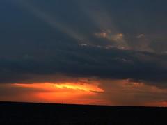 Sunset Tuesday (ptcruiser4dogs) Tags: sunset summer sun lake storm oklahoma mushroom rain weather clouds 405 summertime oranges okc reds storms atomic oklahomacity sunray rains lakehefner