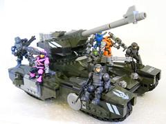 Rolling Thunder (Homicide_Crabs) Tags: tank sting halo scorpion scorpions marines buck thunder rolling spartan mega bloks