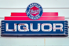 Lasalle Classic Liquor - Detail II (Z-Imagery) Tags: building architecture modern nikon outdoor superia sigma f100 googie doowop midcentury 2880mm fujicolor f3556 asphericalmacro