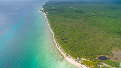Palancar beach Cozumel Mexico aerial