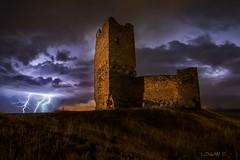 Thunderstruck!!! (darklogan1) Tags: longexposure nightphotography tower castle abandoned spain guadalajara logan thunder lightining darklogan1