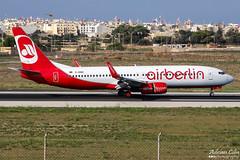Air Berlin --- Boeing 737-800 --- D-ABBK (Drinu C) Tags: plane aircraft aviation sony boeing dsc mla airberlin 737800 lmml dabbk hx100v adrianciliaphotography