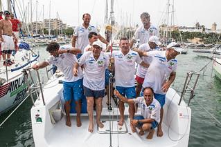 """La tripulación del """"Movistar"""" tras ganar la Copa del Rey MAPFRE"""