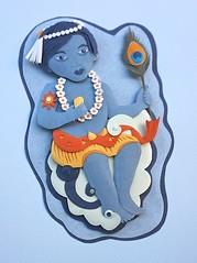 Janmashtami (KarenBrooksArtwork) Tags: paperart cutpaper krishna papersculpture krishnasbirthday