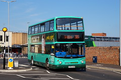 Stagecoach Norfolk Green Ex-East London Dennis Trident Alexander ALX400 17606 LV52HHR in Kings Lynn (Mark Bowerbank) Tags: green london norfolk lynn kings alexander dennis stagecoach trident 17606 alx400 exeast lv52hhr