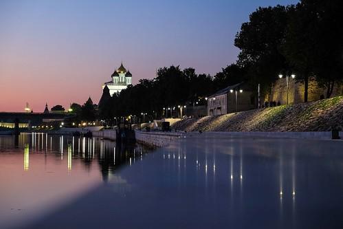 Pskov sunset