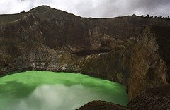 Mount Kelimutu on Flores Island, Indonesia
